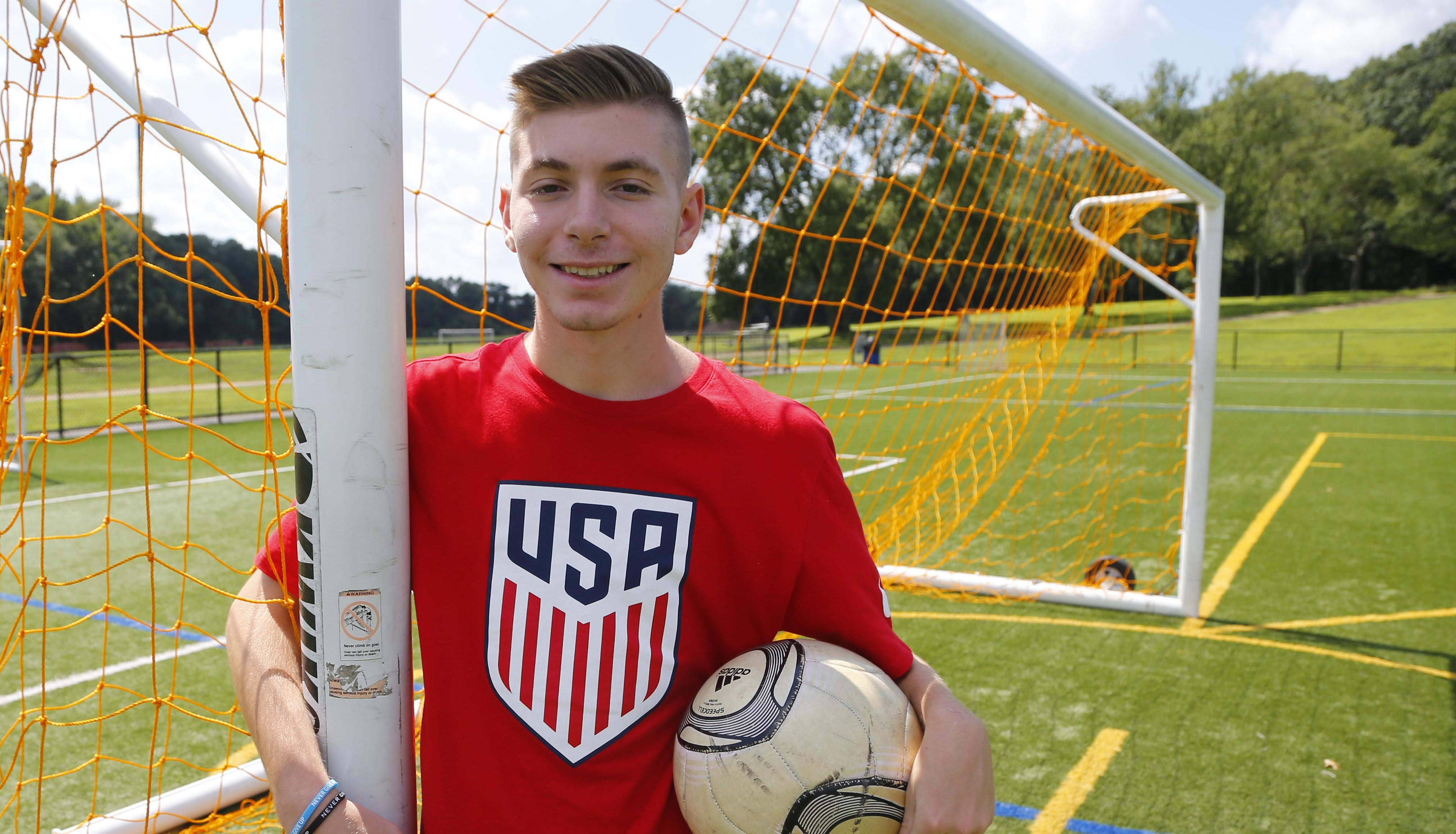 Jake Kaplan, an 18-year-old Marlboro resident who plays on the U.S. Paralympic soccer team.