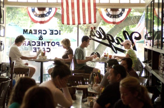 A file photo shows diners inside Nagle's.