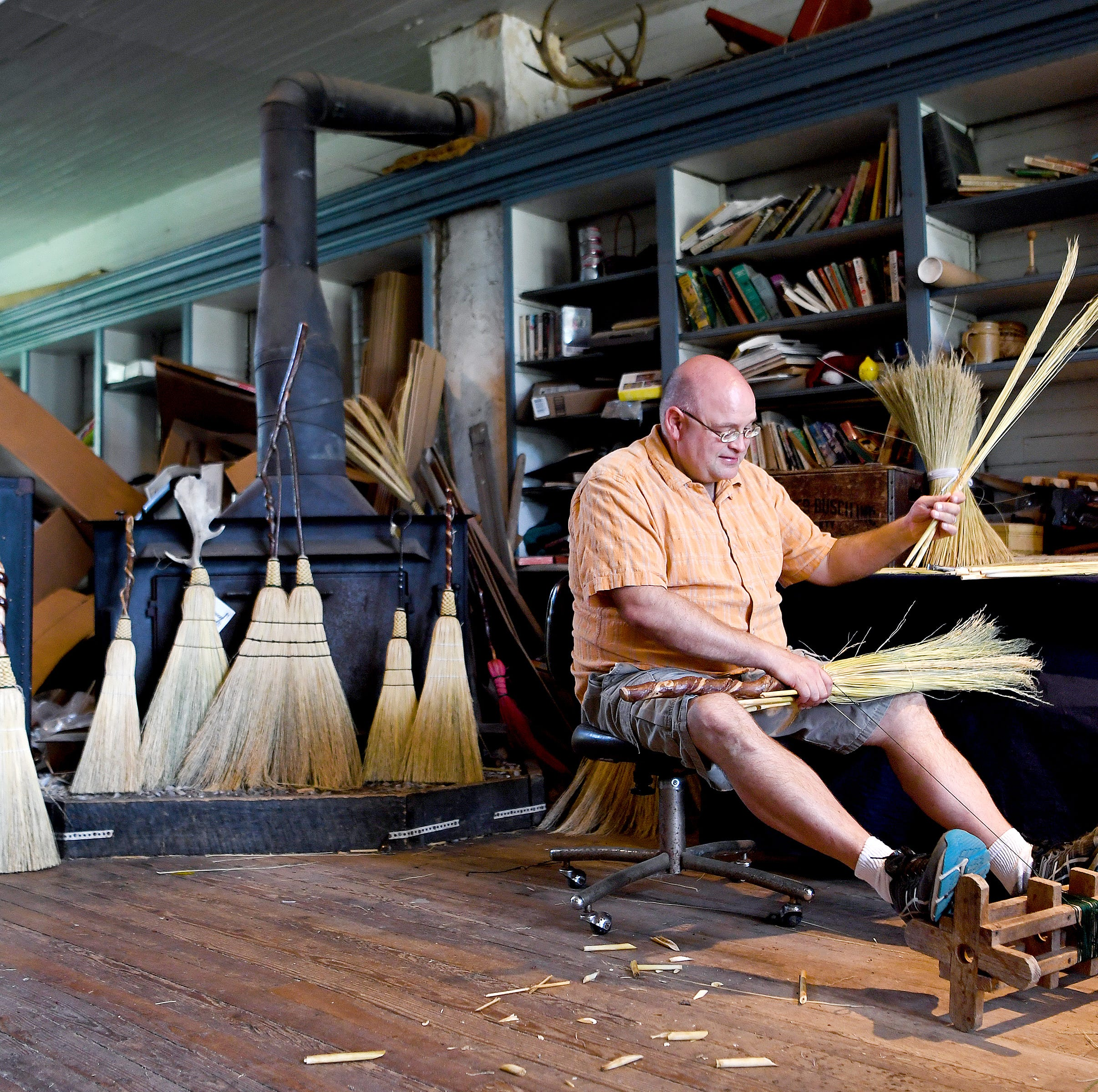 Frame: Broom maker Marlow Gates