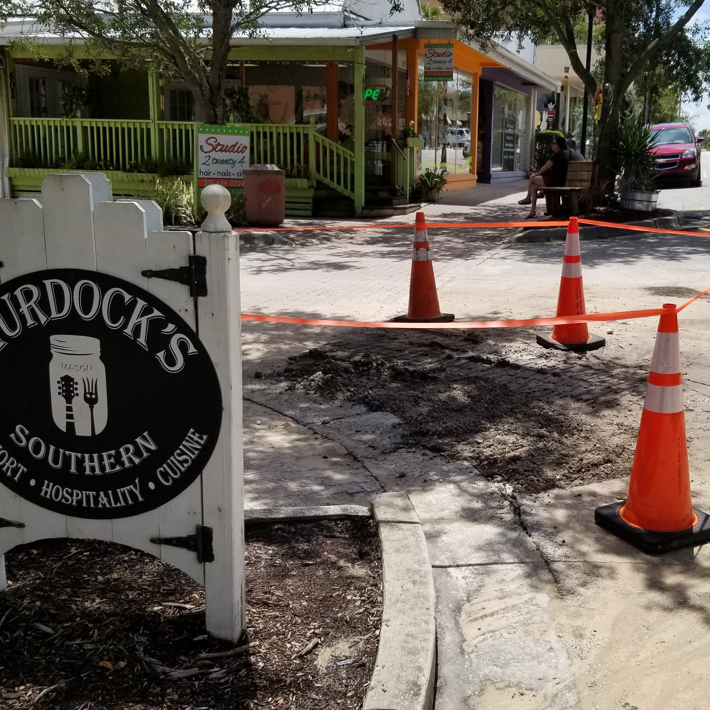 Main break in front of Cocoa Village restaurant was water, not sewage, officials said