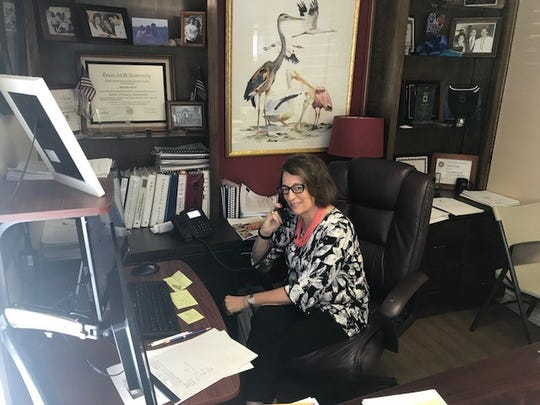 Diane Probst, president of the Rockport-Fulton Chamber of Commerce, says 83 percent of the region's businesses are open one year after Hurricane Harvey struck.