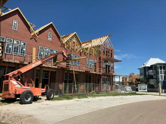 Condominiums under construction in Port Aransas as part of the Texas Coast's recovery from Hurricane Harvey