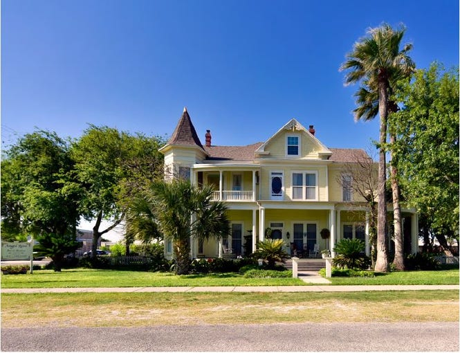 The Angel Rose Bed and Breakfast in Rockport, Texas, before Hurricane Harvey.