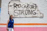 Here's what Rockport business owner Jennifer Day says about the strides she and others have made in the Texas gulf coast town after Hurricane Harvey.