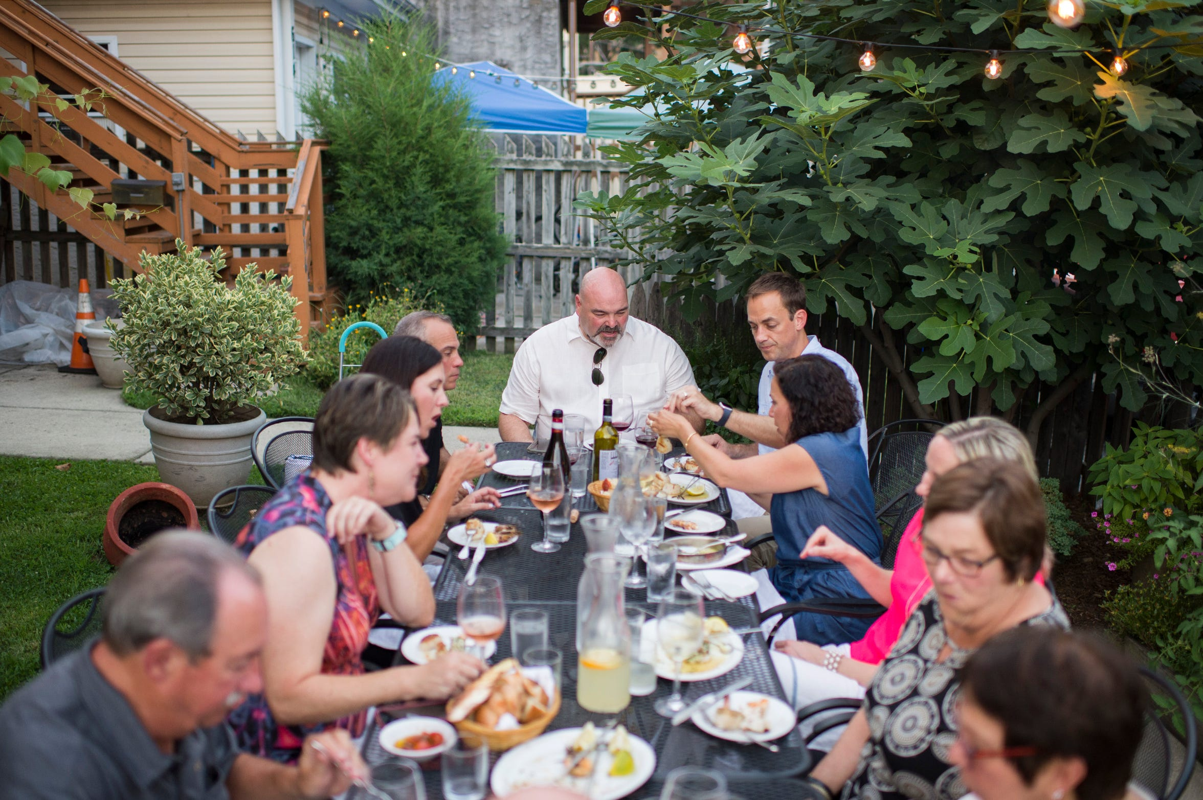 "Family and friends of chef Joey Baldino enjoy a special Sicilian style meal prepared at Zeppoli in Collingswood,. ""I wouldn't do what I do if it wasn't for my family,"" the chef muses. ""All of this is for them."""