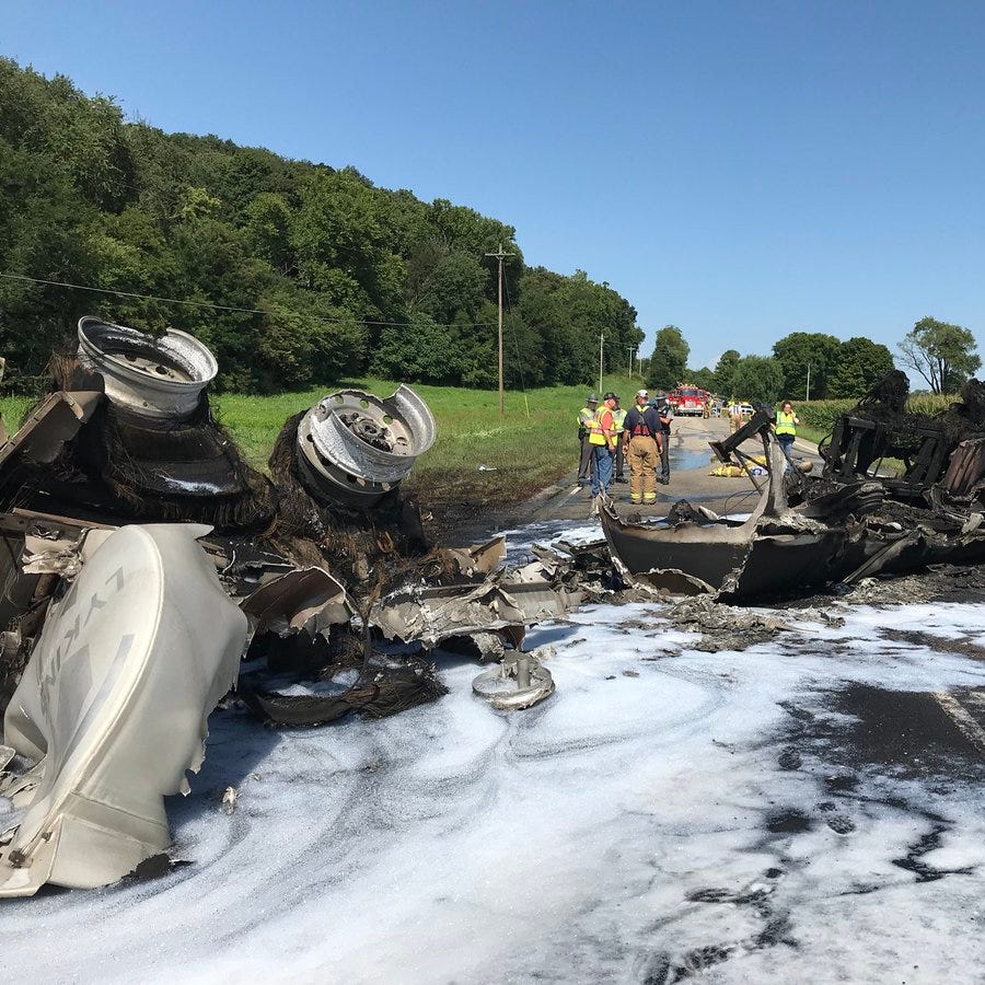 U.S. 50 fully reopened after weekend tanker fire