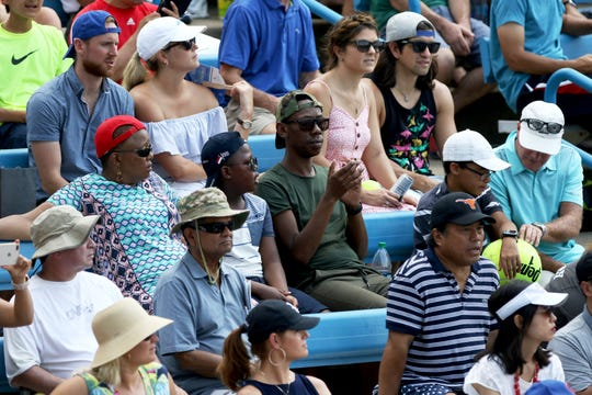 Tennis fans pack the Grandstand as Andy Murray and Lucas Pouille play at the Lindner Family Tennis Center in Mason Monday August 13, 2018.Western and Southern Open at the Lindner Family Tennis Center in Mason Monday August 13, 2018.