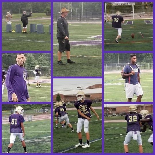 Monroe football practice