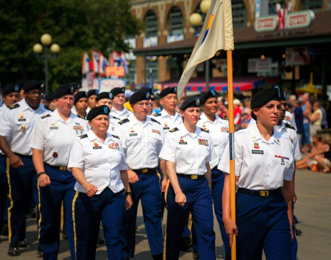 The Veterans' Day Parade at the Iowa State Fair on Aug. 13, 2018.