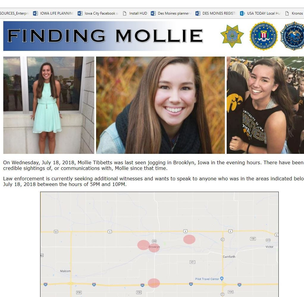 Mollie Tibbetts disappearance: After 500 interviews, Iowa investigators launch website seeking tips