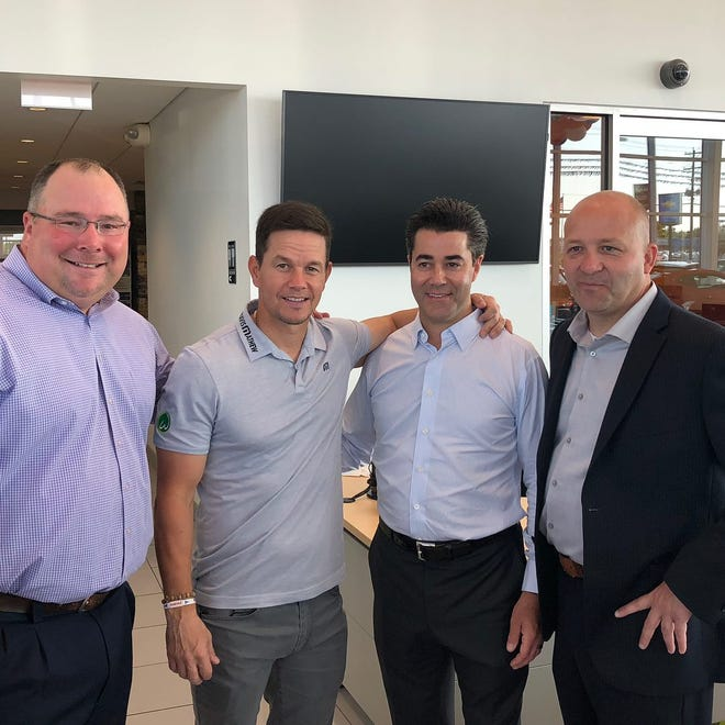 Mark Wahlberg Chevrolet leadership team from left to right: COO Dave Katarski, Dealer Principles Mark Wahlberg and Jay Feldman and General Manager Brian Gilmore