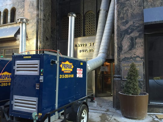 The David Stott building in downtown Detroit suffered a pipe burst and flood in 2015.