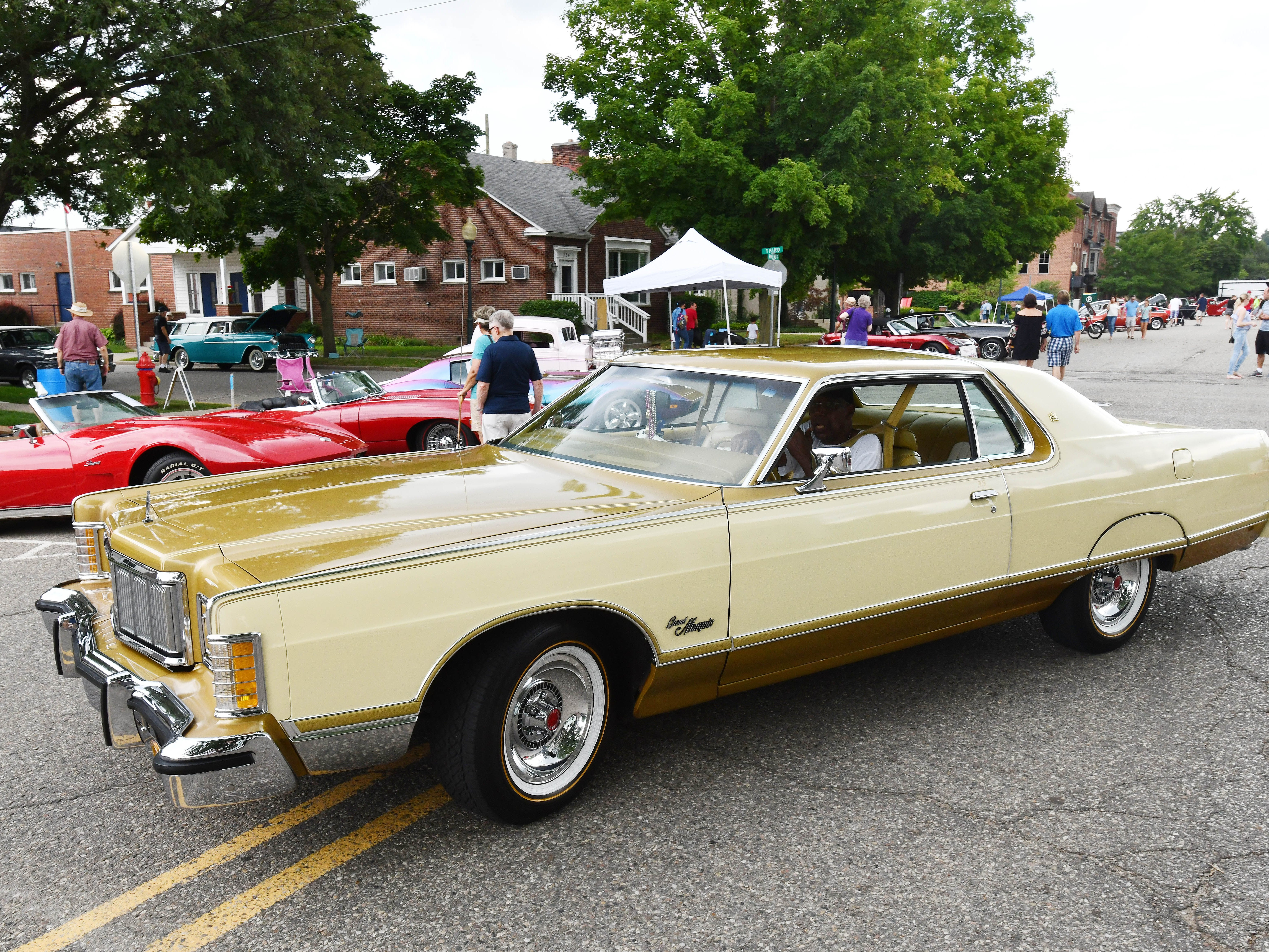 """At 19' 8"""", Frank Smith's 1976 Mercury Grand Marquis needs the whole road to get down the street."""
