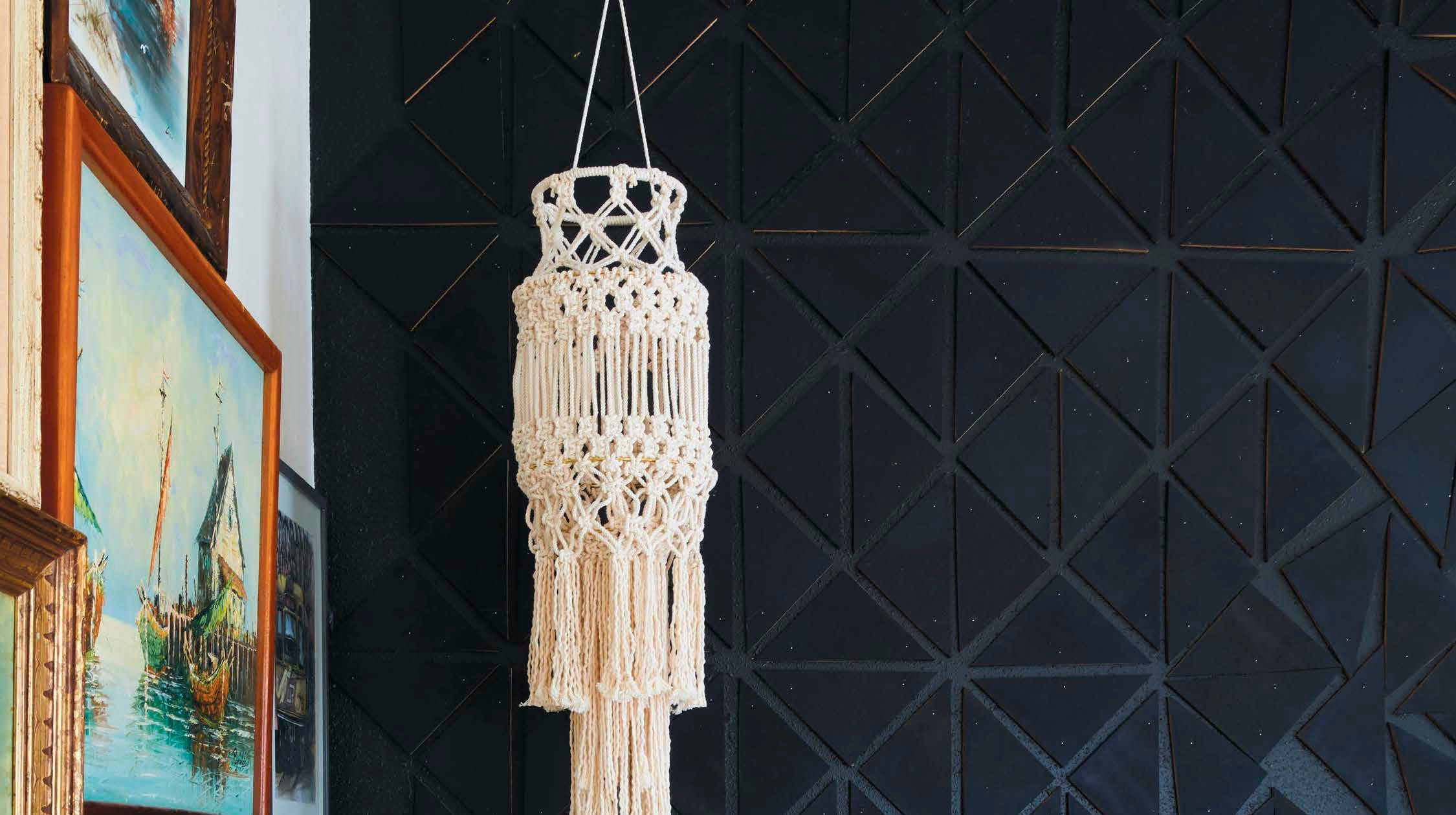 Macramé planters, wall hangings are back