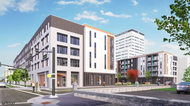 Rendering of the Post House in Downtown Evansville, slated for 2020 completion.