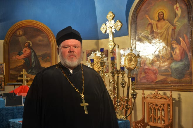 Rev. Andrew Bartek will give tours of the historic Holy Assumption Orthodox Church during the 62nd Annual Halupki Festival on Sunday, Aug. 19. Bartek recently returned from a trip to Russia, where he had the honor of venerating the body of Bishop Tikhon, once head of the Orthodox Church in all of North America.