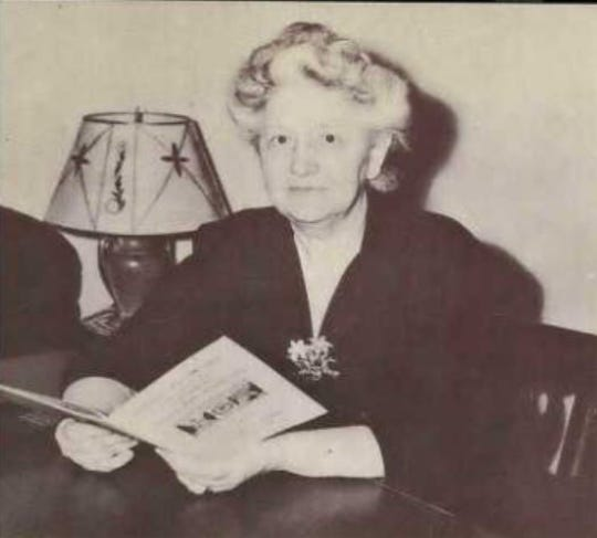 Amy O. Parmelee, Colorado A&M's dean of women, pictured in 1947.