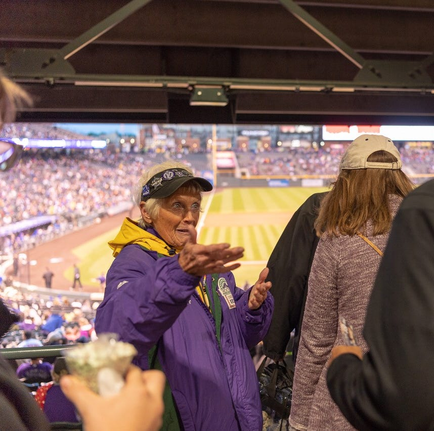 Fort Collins woman marks 20 years as usher at Colorado Rockies games