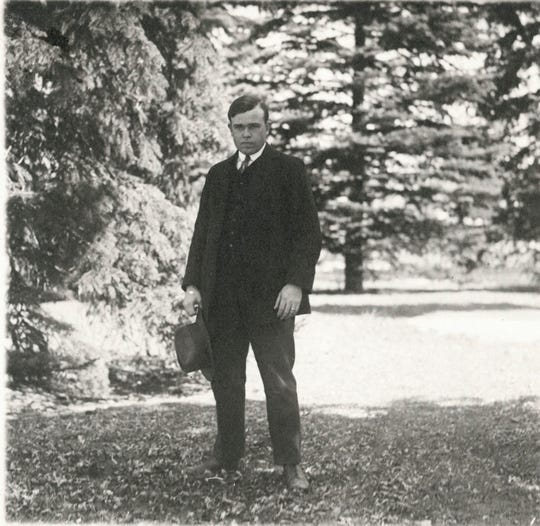 Alfred R. Westfall, an English department faculty member and debate coach, pictured here in 1920.