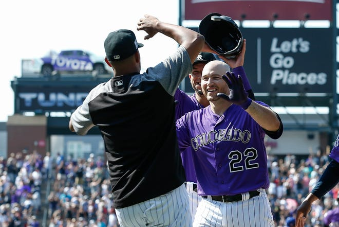 Catcher Chris Iannetta, who drew a bases-loaded walk in the bottom of the ninth inning Sunday in a win over the Los Angeles Dodgers, and the Colorado Rockies open a two-game series Tuesday night in Houston against the Astros. The game will be televised live by AT&T-Rocky Mountain.