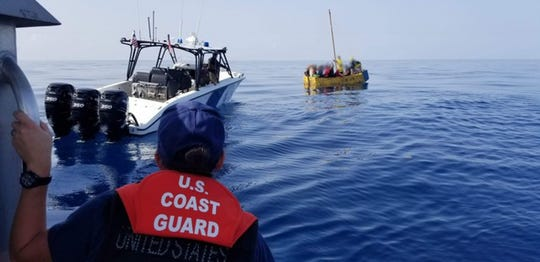 A vessel with 17 Cuban migrants was stopped by the U.S. Coast Guard Cutter William Trump on Friday with the 15 men and two women being repatriated Monday to Bahia de Cabañas, Cuba.