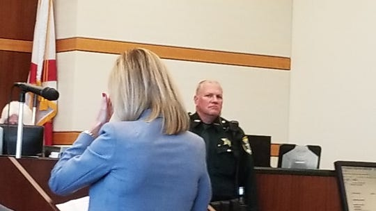 A Cape Coral woman hurt in the car crash in which County Commissioner John Manning was arrested for driving under the influence of alcohol delivers a victim impact statement in court.