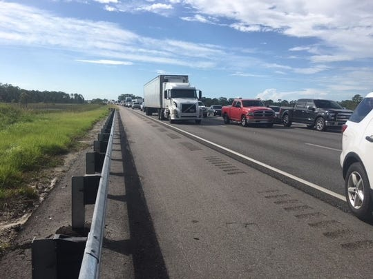 The Florida Highway Patrol has closed a portion of I-75 both north and southbound from Tucker's Grade in Charlotte County south and from Bayshore Road in Lee County north due to a hazardous load issue with a truck.