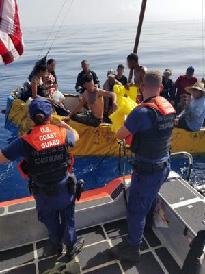 A vessel with 17 Cuban migrants was stopped by the U.S. Coast Guard Cutter William Trump on Friday with the 15 men and two women beingrepatriated Monday to Bahia de Cabañas, Cuba.