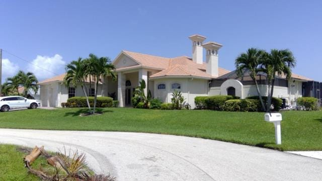 This home at 2803 SW 36th Terrace, Cape Coral, recently sold for $900,000.