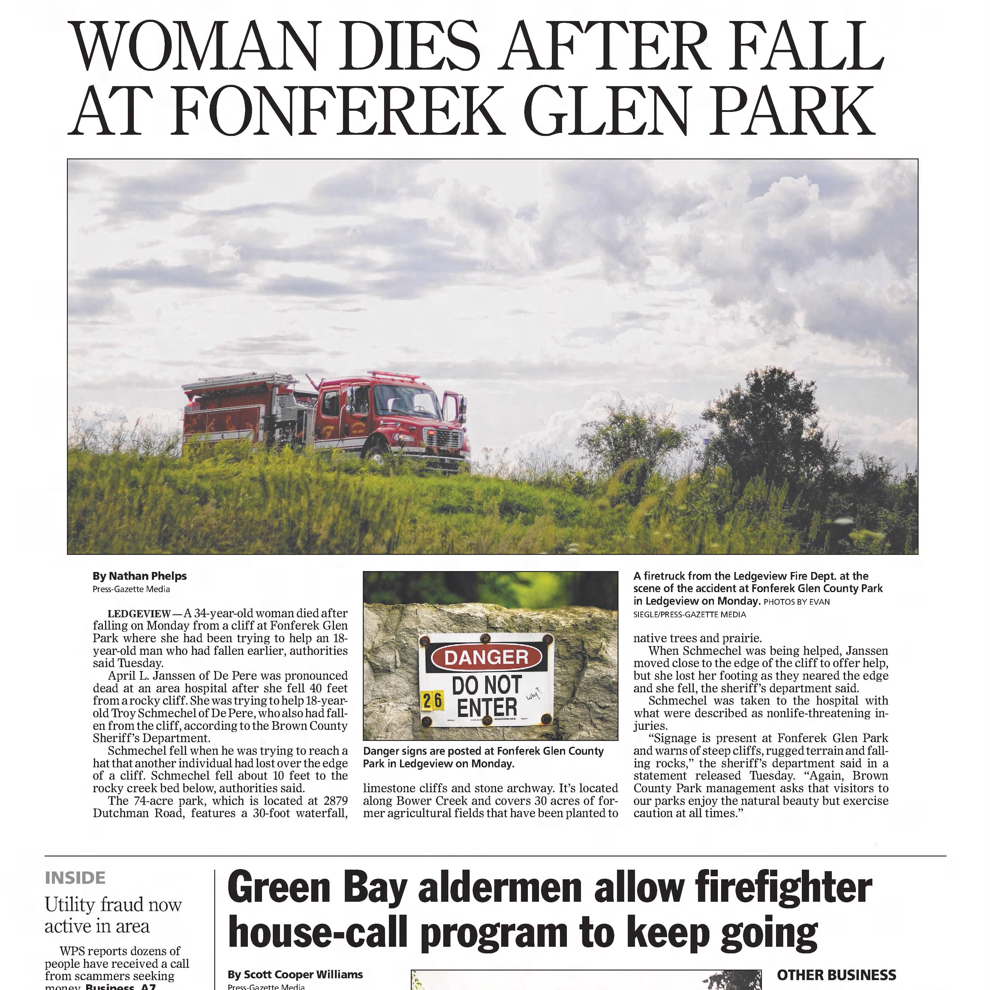 Green Bay Press-Gazette today in history: August 14