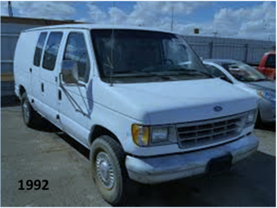 Authorities are looking for the driver of a van similar to this one with damage to the front right side. The vehicle is believed to be involved in a fatal hit and run.