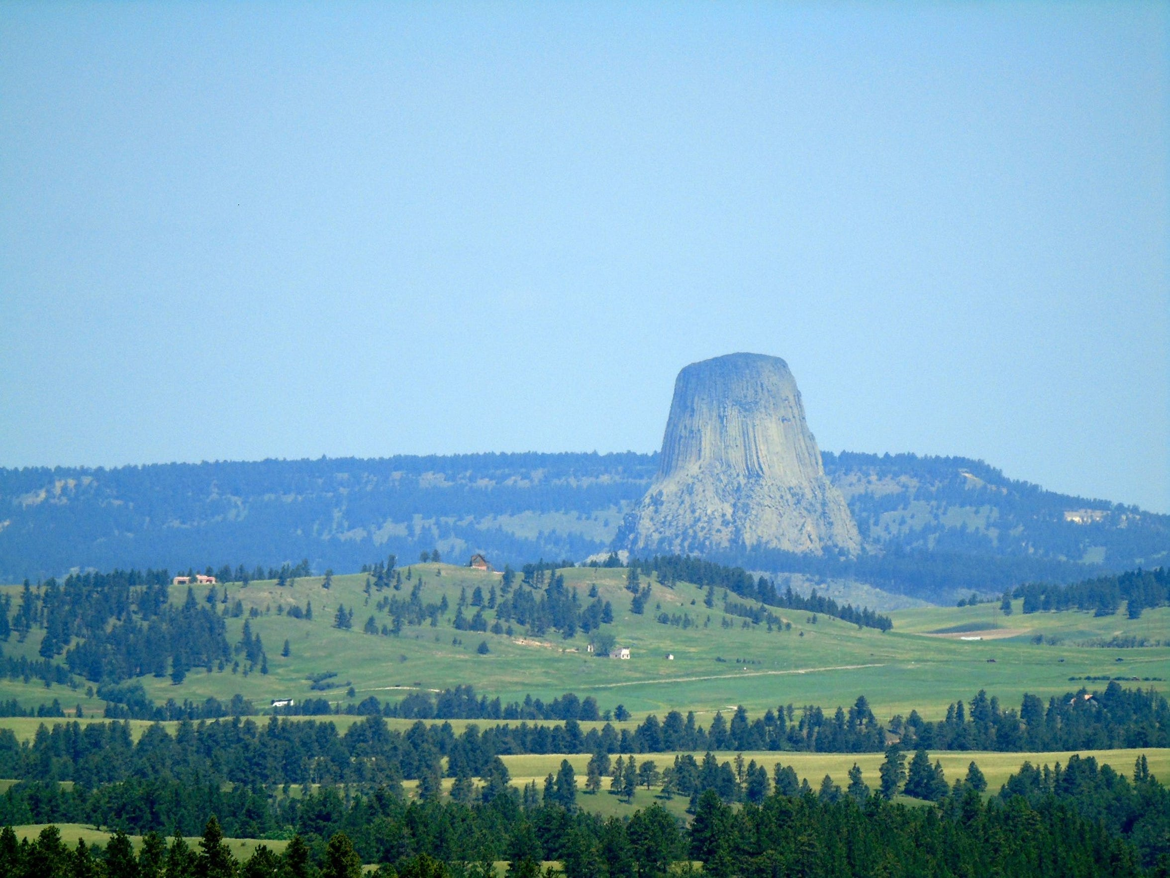 If you've gone all that way, you might as well see the Devils Tower National Monument in Wyoming.