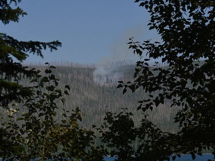 Howe Ridge FIre near Lake MacDonald in Glacier National Park.