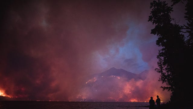 The Howe Ridge fire in Glacier National Park destroyed seven private summer residences, a cabin and the main camp house at Kelly's Camp.