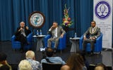 Attorney General candidates answer a question about how their qualifications will help them perform position duties if elected, during the 2018 Attorney General Candidate Forum, Aug. 13, 2018.