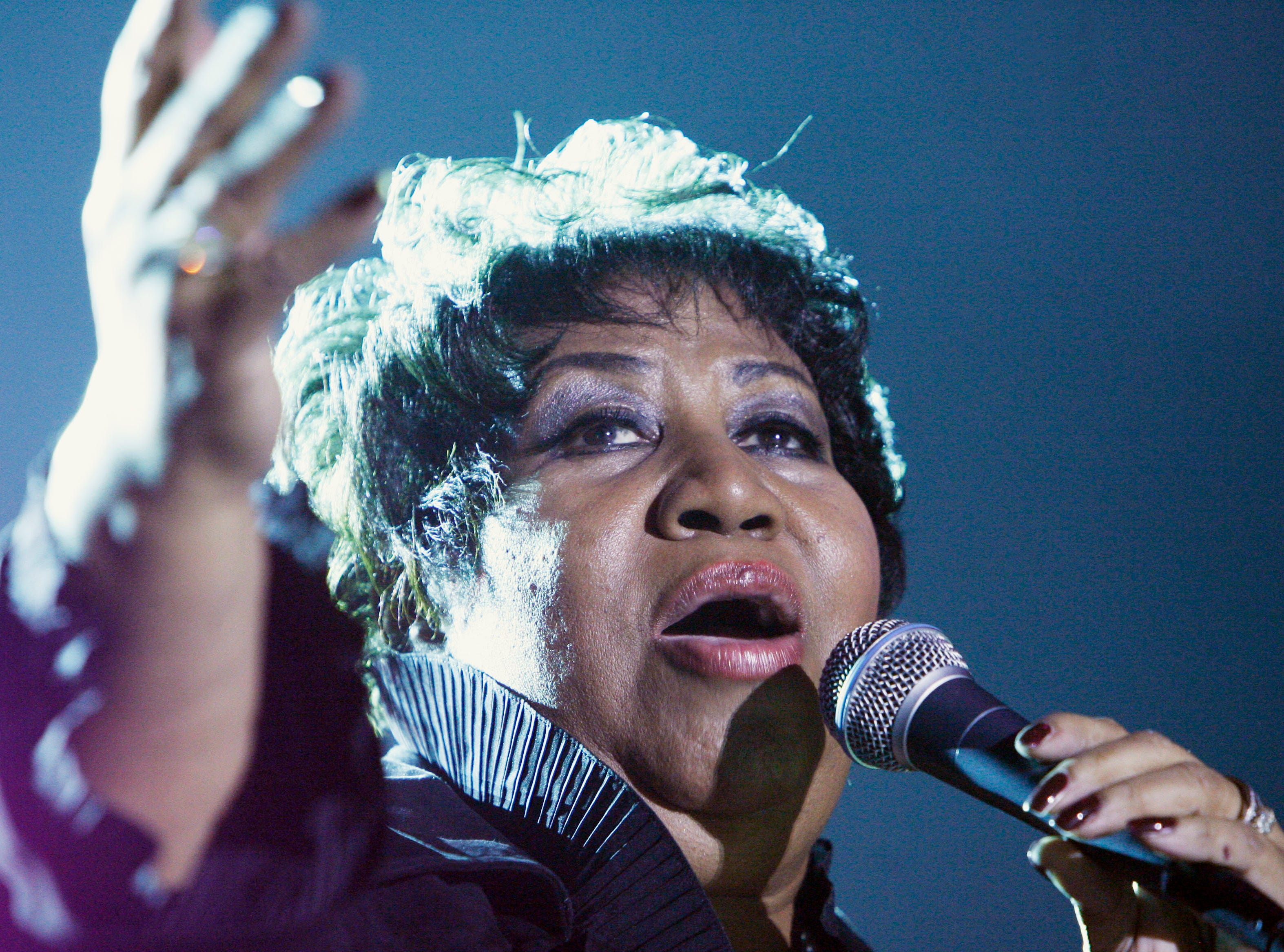 Aretha Franklin performed at Hoosier Park Racing and Casino in Anderson Saturday 9/20/08. Rob Goebel/Indianapolis Star.