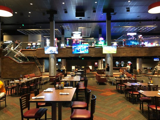 The center of Regal's Cinebarre complex serves as a sit-down restaurant.