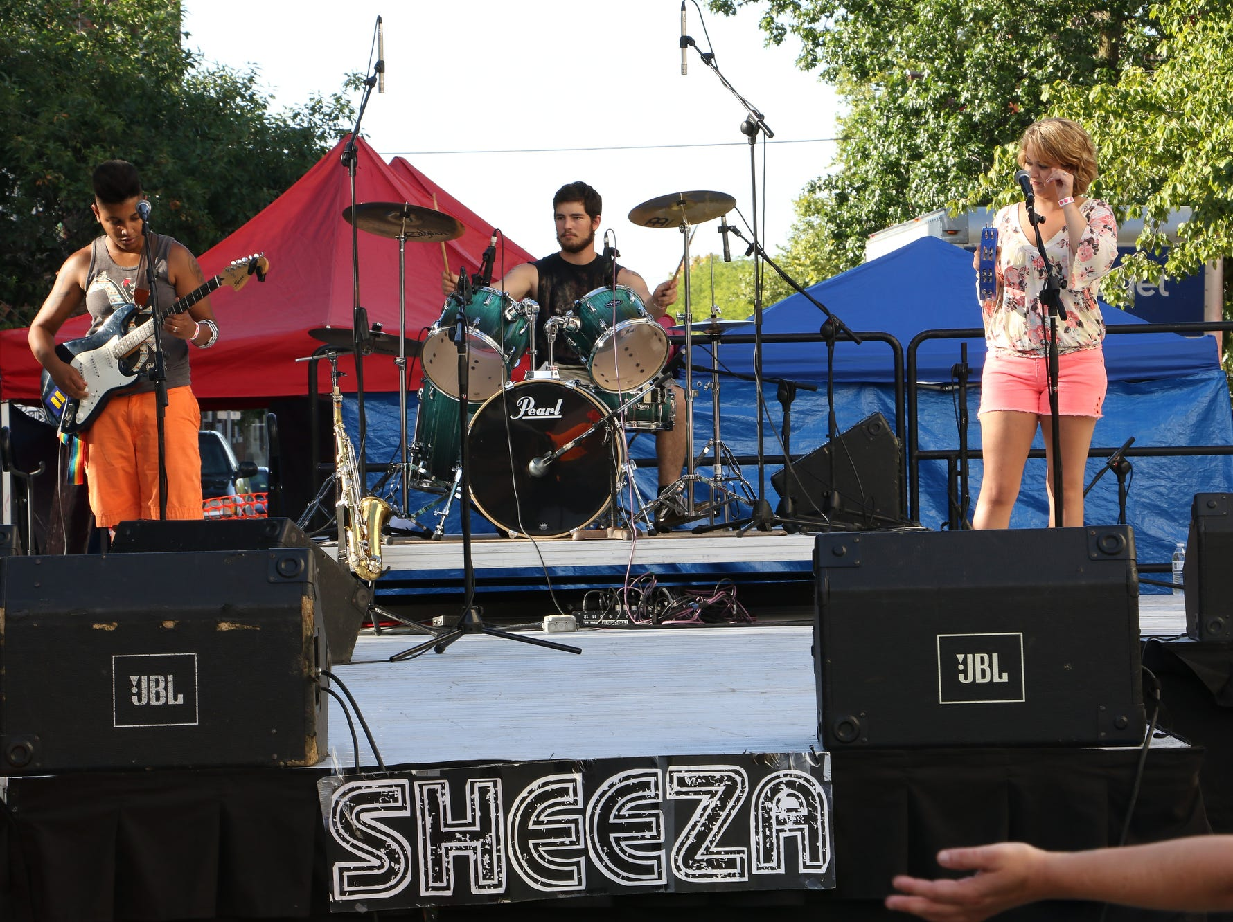 The band Sheeza will return to perform during OUTfest on Saturday night in downtown Lafayette.