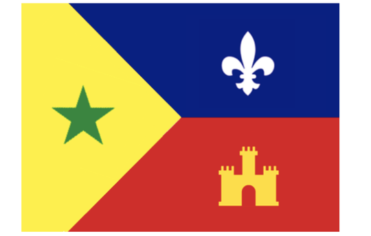 Proposed regional Acadiana flag