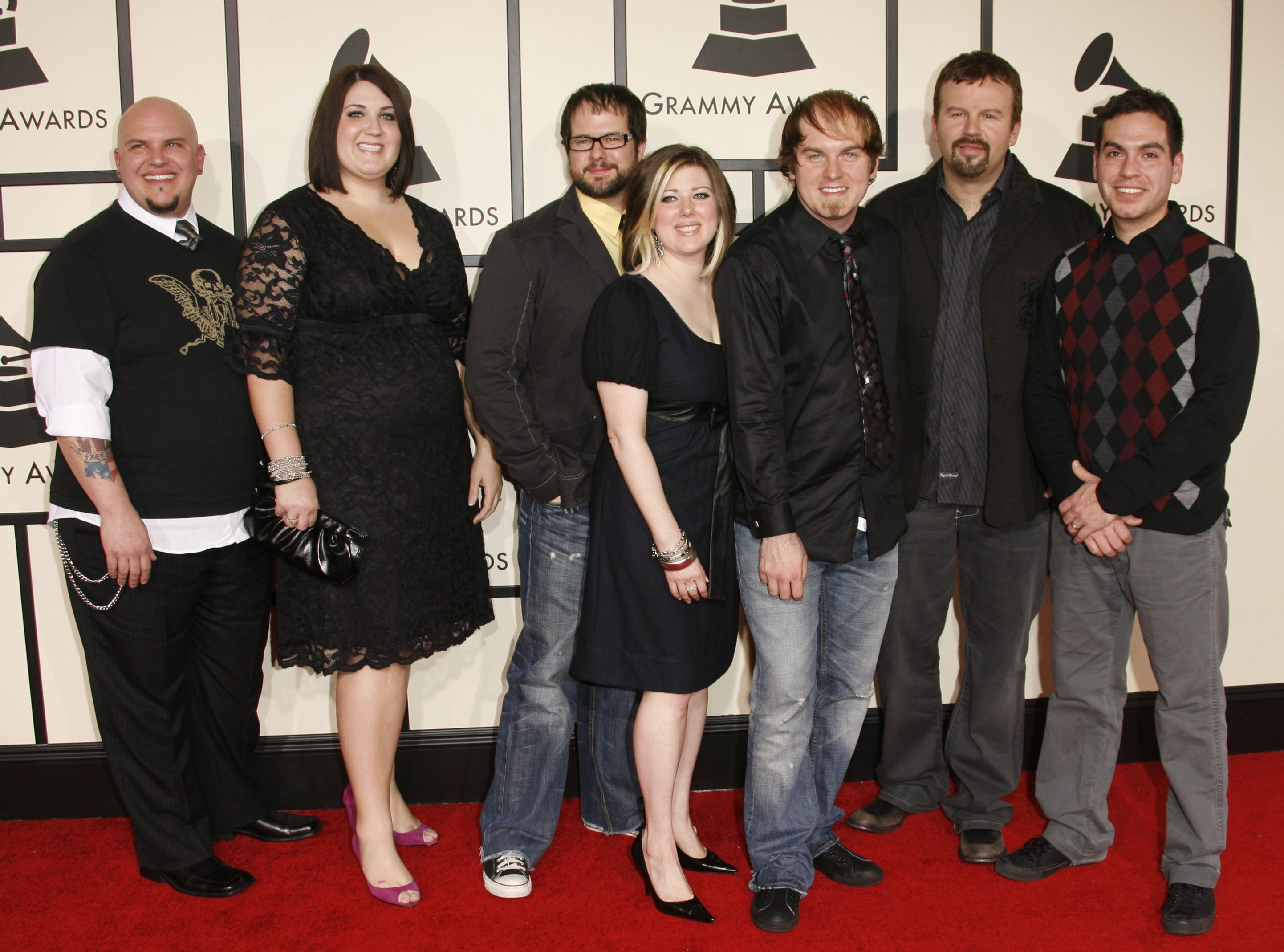 2/10/08 1:42:10 PM -- Los Angeles, CA, U.S.A_ -- The 50th Annual Grammy Awards show at the STAPLES Center in Los Angeles. -- _Casting Crowns arrive at The 50th Annual Grammy Awards at the Staples Center in Los Angeles, CA.__Photo by Dan MacMedan, USA TODAY contract photographer