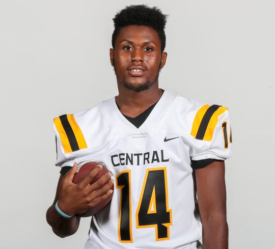 Central Yellowjackets, U'Kari Baker, senior, wide receiver, defensive back