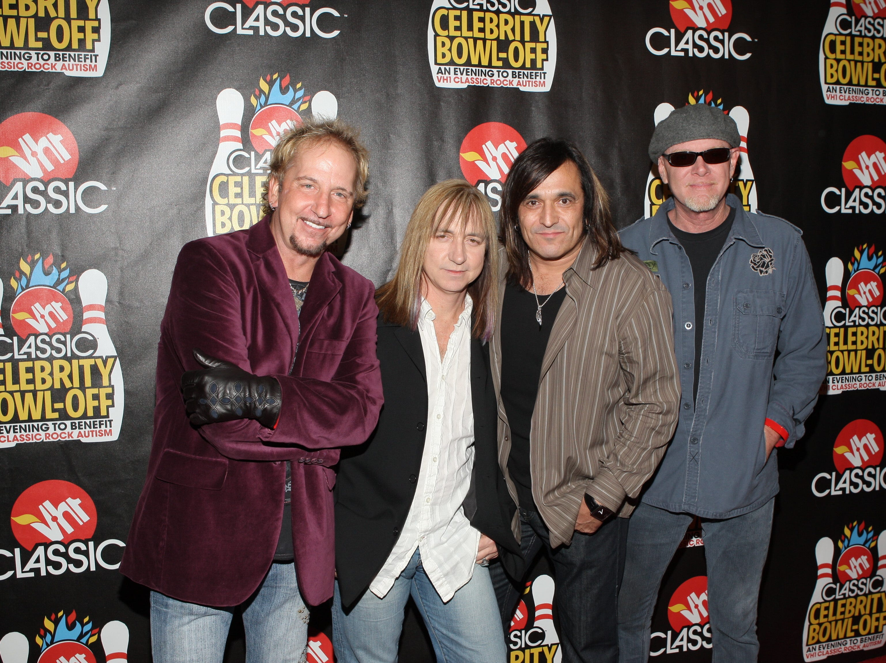 Members from the band Great White pose during the VH-1 Classic Rock Autism Celebration held on Thursday November 13th, 2008 in Hollywood, California.  (AP Photo/Mark Davis)
