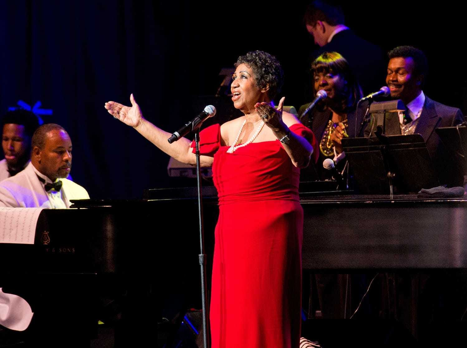 Aretha Franklin was the featured performer at the Bardavon Gala in Poughkeepsie, New York.