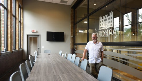 Jeff Deason, President and CEO of the Shiawassee Regional Chamber of Commerce in the newly renovated armory.