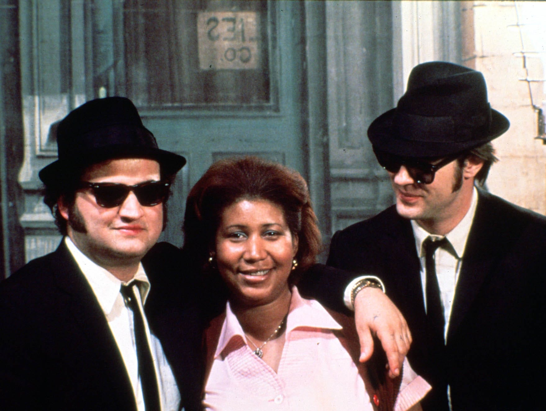 """John Belushi, from left, Aretha Franklin and Dan Aykroyd appear in a scene from the motion picture The Blues Brothers."""""""