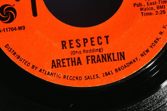 """Franklin's single """"Respect"""" was recorded in 1967."""