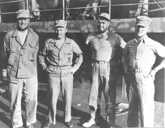 James Vedder, far left, served as a naval doctor in Iwo Jima and returned and worked for over 25 years at the Marshfield Clinic as a pediatrician.