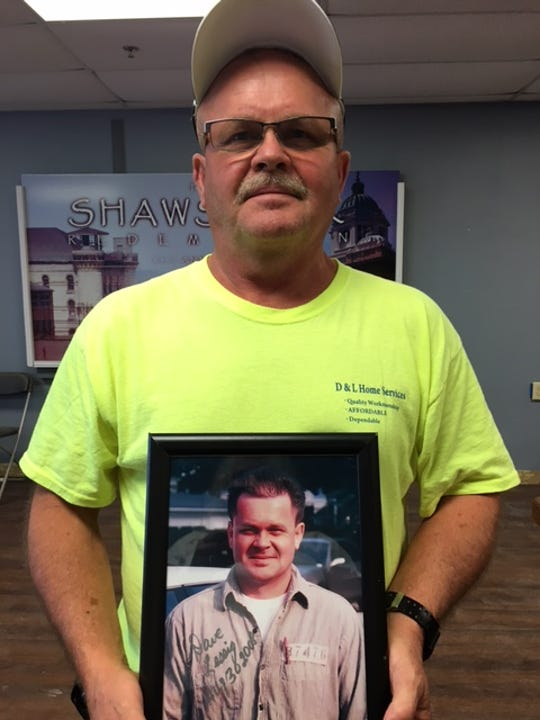 """Dave Lessig of Kirby, Ohio was an extra in """"The Shawshank Redemption"""" but said he never made it onto the big screen. Playing an inmate in the woodshop, he was there for the famous scene with Morgan Freeman (Red) where opera music was played over the PA in the woodshop by Tim Robbins (Andy)."""