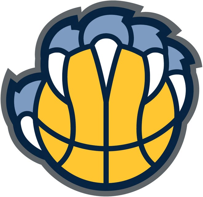 The revised clawball logo for the Memphis Grizzlies features a left hand on the ball.