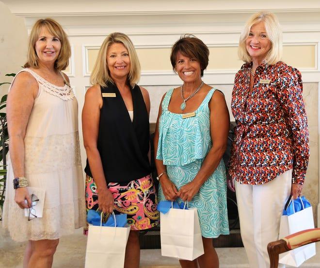 Membership Chair Debbie Kelly with new members Peggy Palmer, Rosie Sellers and Gwen Tull.
